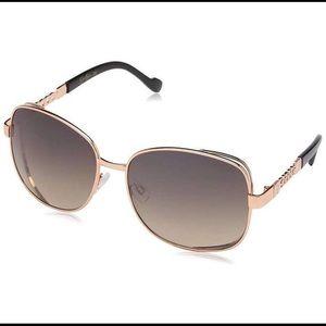 Jessica Simpson Vented Square Metal Sunglasses
